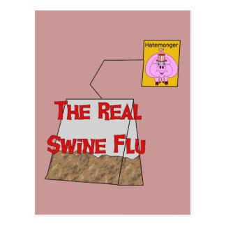Gripe real de los cerdos tarjeta postal