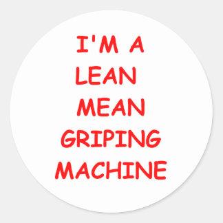 griping classic round sticker
