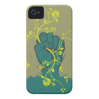 gripping nature hand vector design iPhone 4 Case-Mate case