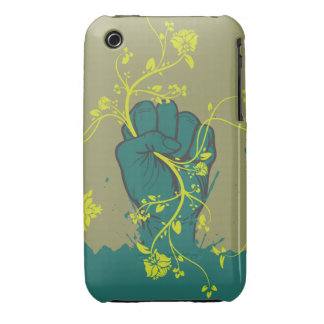 gripping nature hand vector design iPhone 3 Case-Mate cases