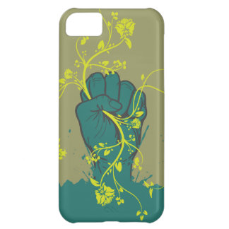 gripping nature hand vector design iPhone 5C case