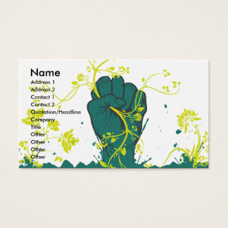 gripping nature vector business card