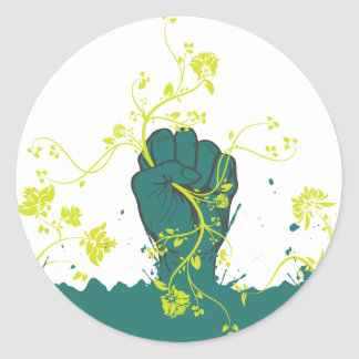 gripping nature vector classic round sticker