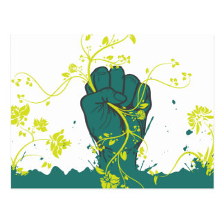 gripping nature vector postcard