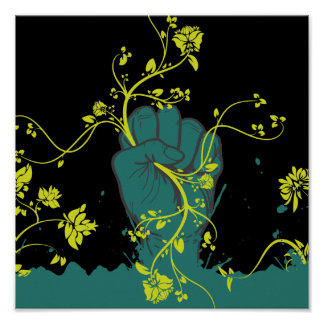 gripping nature vector poster