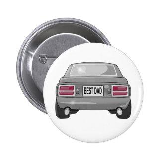 Gris 1976 de Datsun 280Z Pin Redondo De 2 Pulgadas