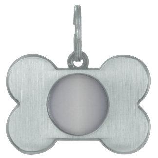 Gris 1 - Pendiente de plata de plata y romana Placa De Mascota
