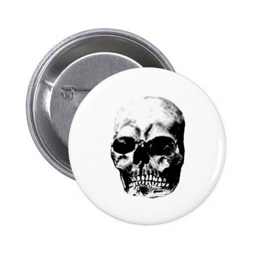 Gris 2 del cráneo los regalos de Zazzle del MUSEO Pins