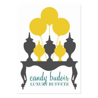 Gris amarillo de Budoir de 311 caramelos Tarjetas De Visita Grandes