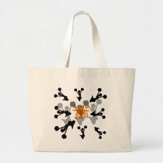 Gris anaranjado 2013 de la animadora bolsas
