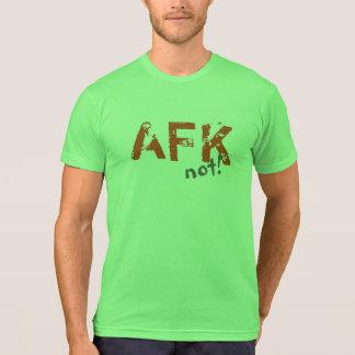 Gris anaranjado divertido de AFK todos los colores Playera