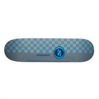 Gris azul de la metralla patines personalizados