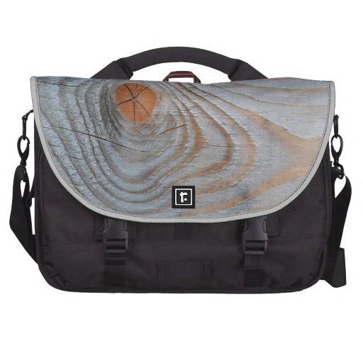 Gris azul de la textura de madera bolsas para ordenador