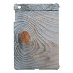 Gris azul de la textura de madera iPad mini carcasas