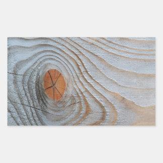 Gris azul de la textura de madera pegatina rectangular