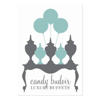 Gris azul del petirrojo de Budoir de 311 caramelos Tarjetas De Visita Grandes