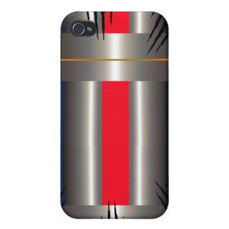 Gris azul rojo iPhone 4/4S carcasa