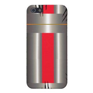 Gris azul rojo iPhone 5 carcasas