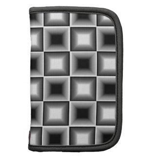 Gris blanco del tablero de ajedrez 3D del negro óp Organizador