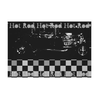 Gris blanco y negro de la lona de arte de Rod del Impresión En Lona Estirada
