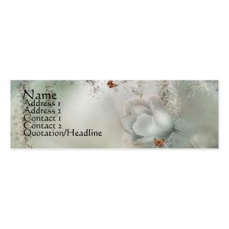 Gris brumoso del KRW floral con las mariposas Tarjetas De Visita Mini