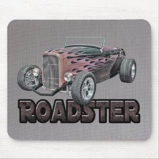 Gris caliente llameante 1932 del coche de carreras tapetes de ratones