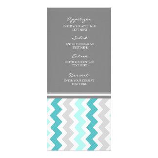 Gris Chevron del trullo del menú del boda Lonas Personalizadas