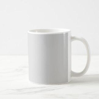 Gris claro taza básica blanca