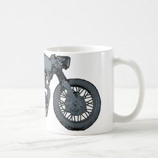 Gris clásico del corredor del café taza
