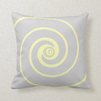 Gris con la almohada amarilla de la decoración del