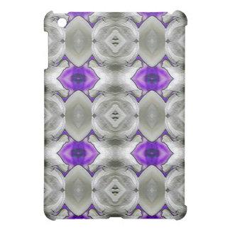 Gris con la caja púrpura del iPad de la mota del a