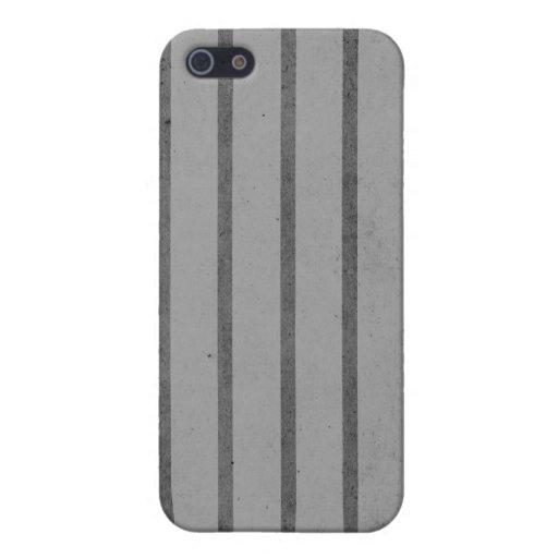 Gris con las rayas negras iPhone 5 funda