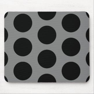 Gris con los puntos negros alfombrillas de ratón