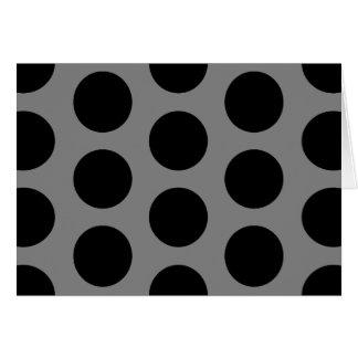 Gris con los puntos negros tarjeta de felicitación