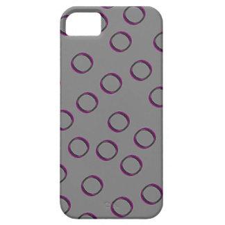 Gris con los puntos rosados iPhone 5 funda
