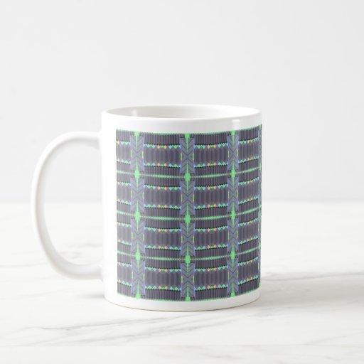 gris conectado tazas de café
