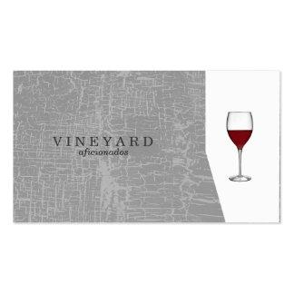 Gris/copa de vino de la textura tarjetas de visita