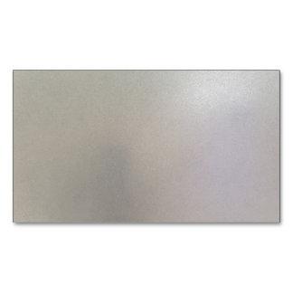 Gris de acero cepillado de la textura del metal tarjetas de visita magnéticas (paquete de 25)