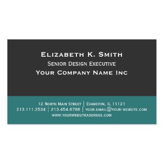 Gris de acero - contemporáneo elegante verde del t plantillas de tarjetas personales