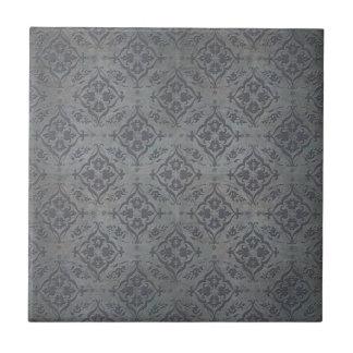 Gris de acero del estaño rústico del damasco azulejo cuadrado pequeño