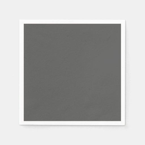Gris de carbón de leña servilletas desechables
