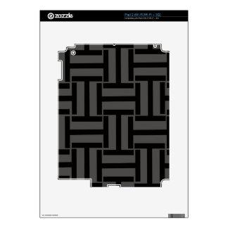 Gris de carbón de leña y armadura negra de T Calcomanías Para El iPad 2