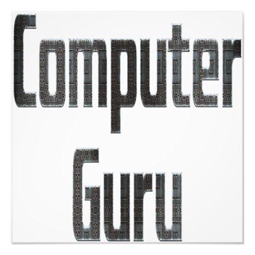 Gris de Guru de ordenador Fotografias