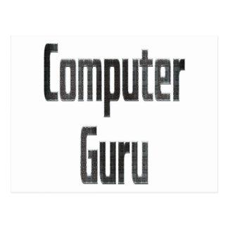 Gris de Guru de ordenador Postal