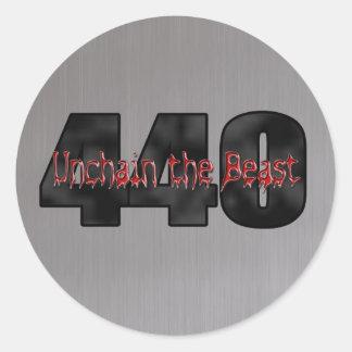 Gris de la bestia de 440 Mopar Pegatina Redonda