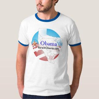 Gris de la camiseta de Tejas Obama