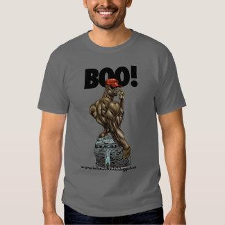 Gris de la camiseta del ABUCHEO Playera