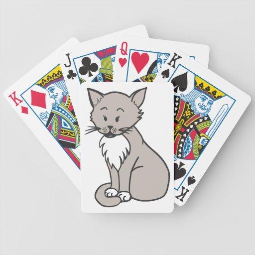 Gris de la charla cartas de juego