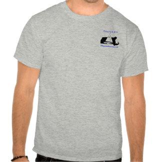 gris de la gaviota del vuelo camisetas