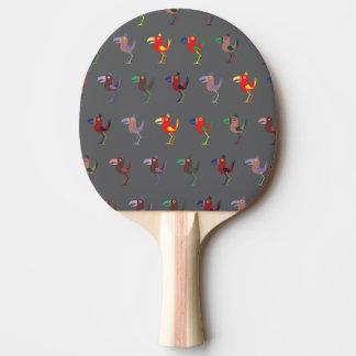 Gris de la mezcla de Tucan Pala De Ping Pong